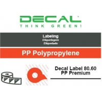Decal label 80.60 pp premium