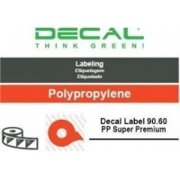 Decal label 90.60 pp super pre