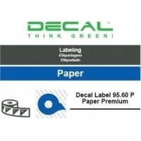 Decal label 95.60 p paper prem