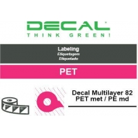 Decal multilayer pet met/pe