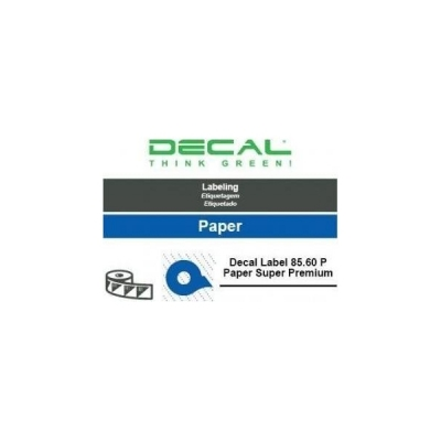 Decal label 85.60 p paper supe