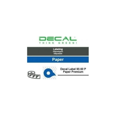Decal label 90.60 p paper prem