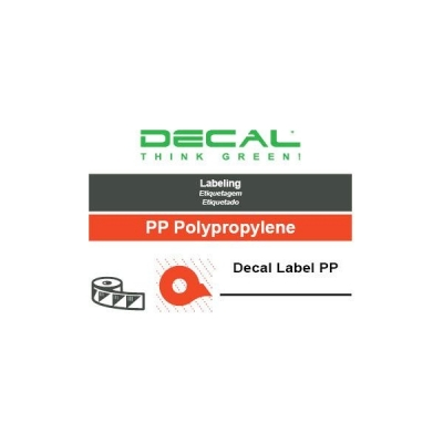 Decal label pp metalized