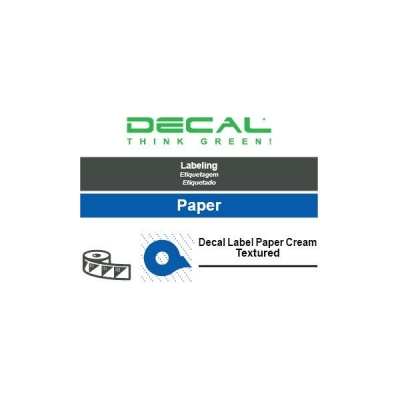 Decal label paper cream tx